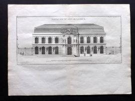 Blondel 1737 Folio Architecture Print. Elevation du Cote de la cour